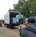 truck being unloaded by moving companies tulsa